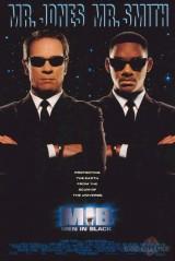 Vīri melnā plakāts