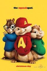 Alvins un burunduki: Turpīkstinājums plakāts