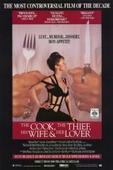 Pavārs, zaglis, zagļa sieva un viņas Mīļākais. plakāts
