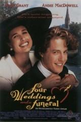 Četras kāzas un vienas bēres plakāts