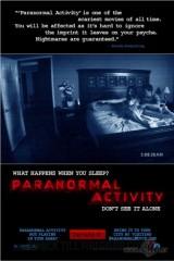 Paranormālā aktivitāte plakāts