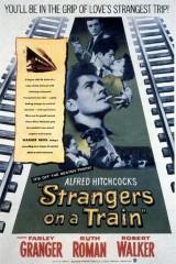 Svešinieki vilcienā plakāts