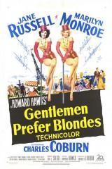 Džentlmeņi Izvēlas Blondīnes plakāts